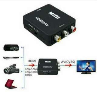 BN New Arrival HDMI to RCA Composite Video Audio AV CVBS Adapter Converter 720p/1080p