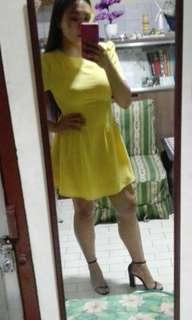 Yellow classy dress