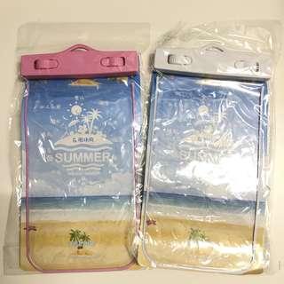 戶外防水電話手機袋 手機殼 密封不漏水不入水 白色粉紅色 waterproof phone case