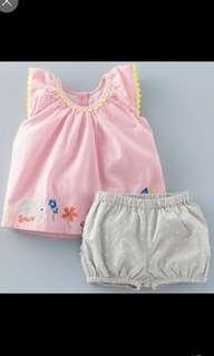80cm Pure Cotton sleeveless set