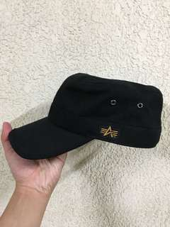 🚚 Alpha industries 黑色 軍帽 全新
