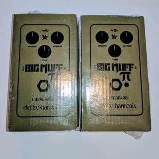 1 SOLD already: EHX Big Muff Green Russian Reissue