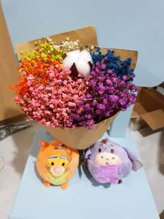 Disney 6 toned baby breaths bouquet