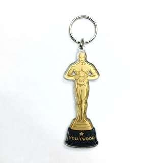 Hollywood Trophy Award Keychain