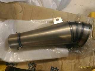 After market handmade titanium muffler