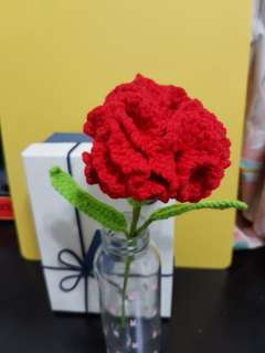 Crochet red Carnation