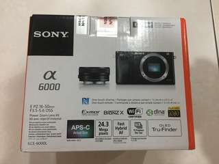 Brand New Sony alpha mirrorless camera a6000 with 16-50mm lens