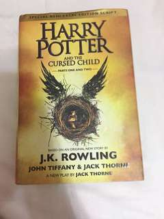 HARDBOUND Harry Potter and The Cursed Child by JK Rowling
