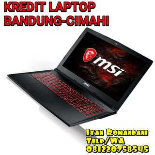 MSI GL62M 7RDx Kredit i7 7700HQ/8GB ! Kredit Laptop Bandung Murah !