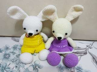 Crochet couple rabbit