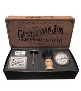 [IN-STOCK] Gentleman Jon Complete Wet Shave Kit | Beard Kit | Includes 6 Items: One Safety Razor - One Badger Hair Brush - One Alum Block - One Shave Soap - One Stainless Steel Bowl and Five Razor Blades