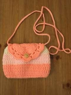 Crochet small sling bag