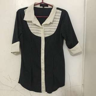 Link Black and White Stripes 3/4 Sleeves