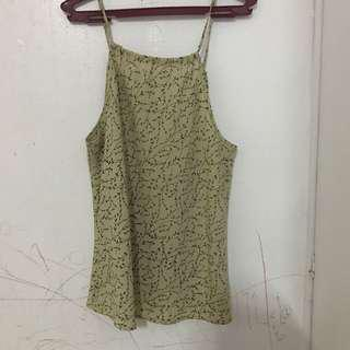 Olive Green Halter Top