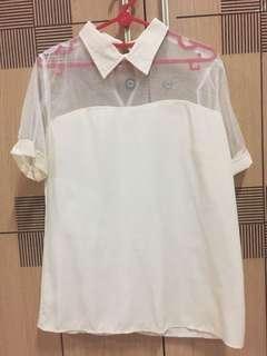 Broken White Collar Shirt