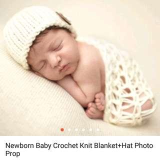 Newborn baby crochet knit banklet