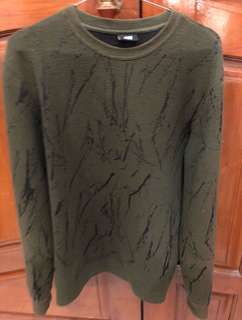 Sweater Green Marble H&M