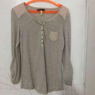 Bershka Beige Long Sleeves #MAKATI50