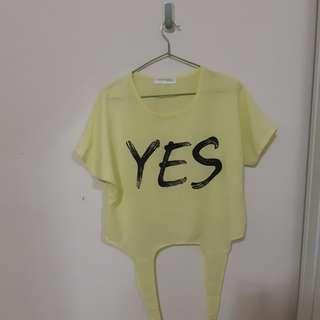 🚚 Yes螢光黃上衣