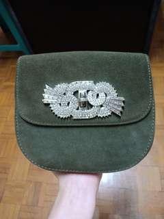 Zara Army Green Slingbag
