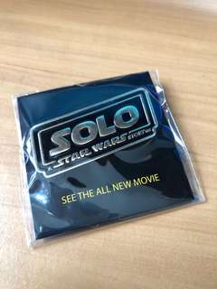 Limited edition SOLO : A Star Wars Story Badge Pin