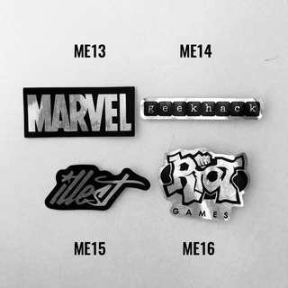 [NEW] Metallic Luggage Stickers /Laptop Stickers