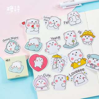 Chubby Marshmallow Stickers