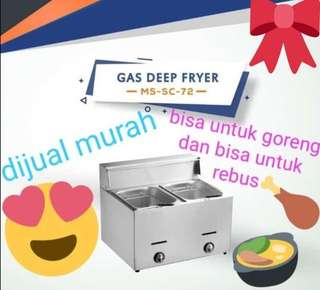 Gas deep fryer horeka SC 72 penggorengan gas kentang dan kentucky