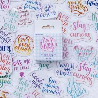 Tumblr Watercolor Brush Calligraphy Stickers