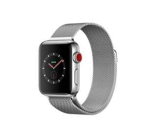 Apple Watch Series 3 (GPS+Cellular) - 42mm Stainless Steel Case with Milanese Loop