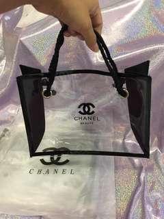 Chanel 透明手抽袋