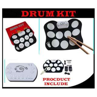 Silicone music instrument electronic roll-up drum kit digital kids electronic drum