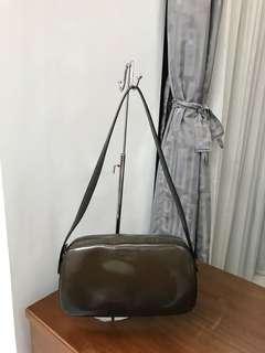 Preowned Authentic Prada Spazzolato Fume Ebony B7447 Shoulder bag