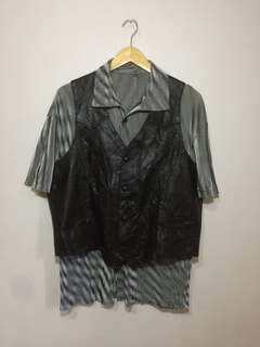 Pioneer wear vest leather mens