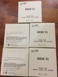 Le Labo New York Rose 31 body soap bar 5 piecea