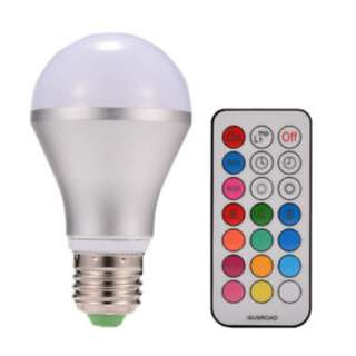 🚚 10W E27 Dimmable RGBW LED Light Bulb Colors Changing with Remote Control