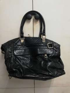 Rebecca Minkoff MAB (Morning After Bag) in black crocodile leather