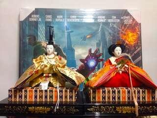Japanese Hinamatsuri King & Queen Dolls