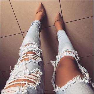 Light blue beach bum skinny fashion nova jeans