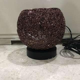 Himalayan Handmade round design salt light table lamp