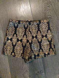 Gold Pattern Shorts