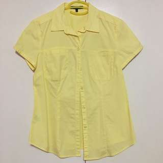 Yellow Collared Button Down