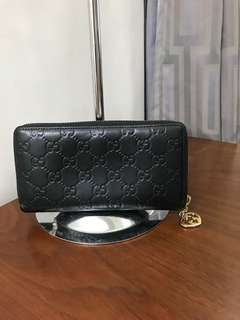 Authentic Gucci  Guccissima Long Zip Wallet