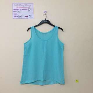 Turquoise Sleeveless Top