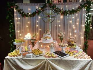 Wedding setup Dessert table Decor