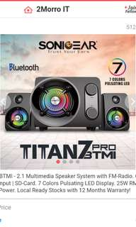 Sonicgear titan 7 btmi pro CHEAP SALE