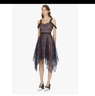 Ladies designer runway dress lace