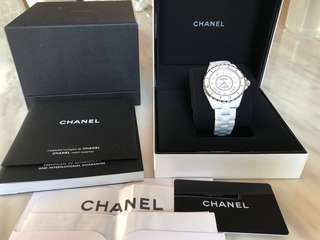 Chanel手錶 J12白色 12鑽