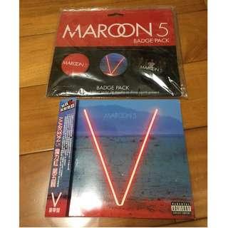 附限量胸針~正版現貨 Maroon5魔力紅:V 第五輯 CD 2014年新專輯