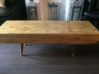 Parallam wood beam coffee table or entrance seating bench